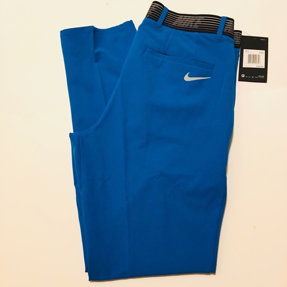 d08bb349 Nike Flex Slim Fit Blue Golf Trousers Pants Men 30 NWT